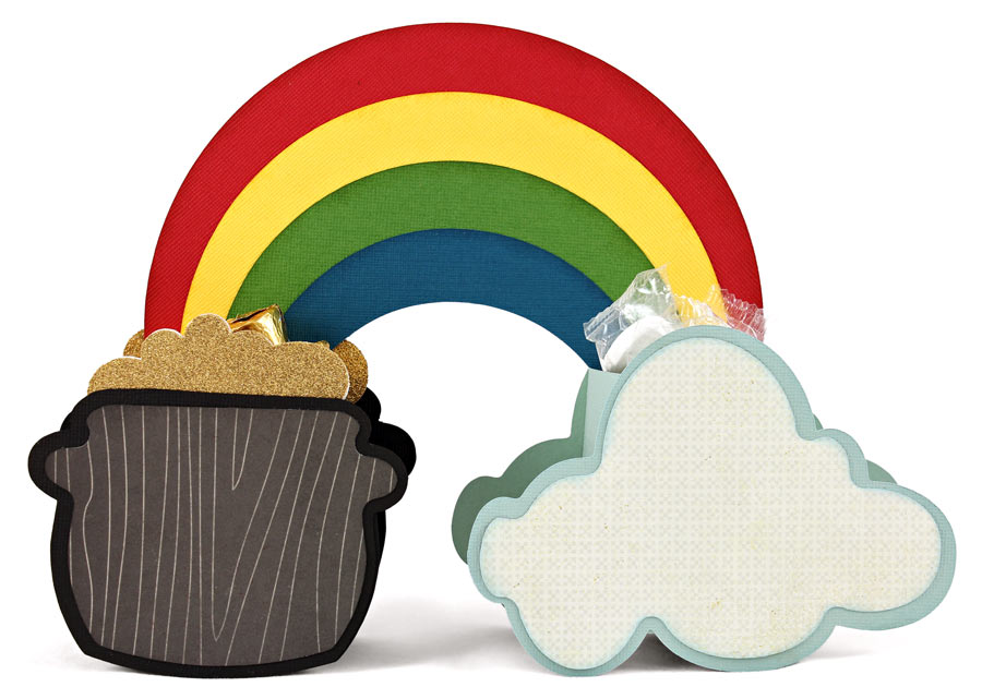Cloud Rainbow Pot of Gold Box