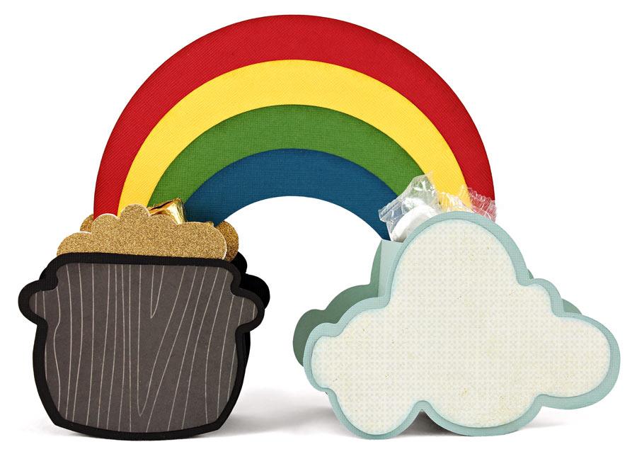 Cloud Rainbow Pot of Gold Box