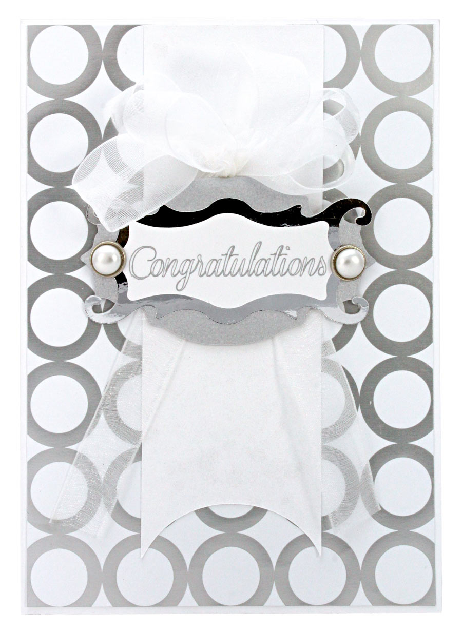 Congratulations Wedding Card Silver Circles