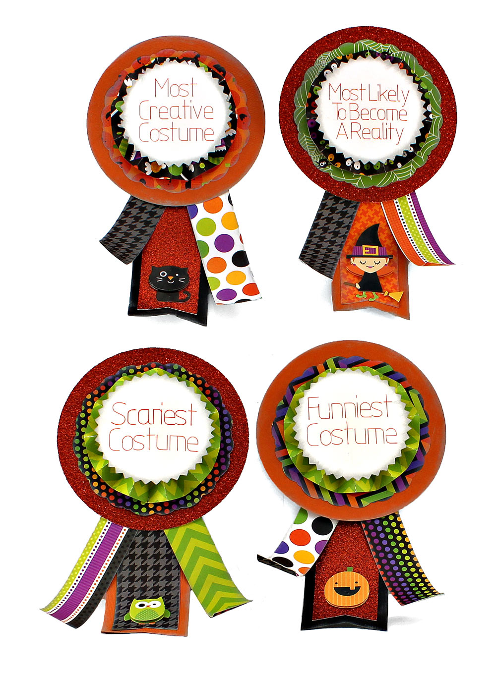Halloween Costume Party Ribbons - Pazzles Craft Room