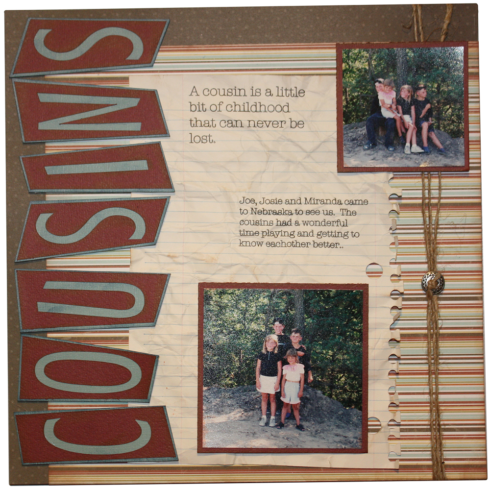 Cousins Scrapbook Layout