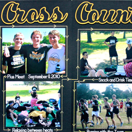 Cross-Country-Two-Page-Pen-Tool-Scrapbook-Layout