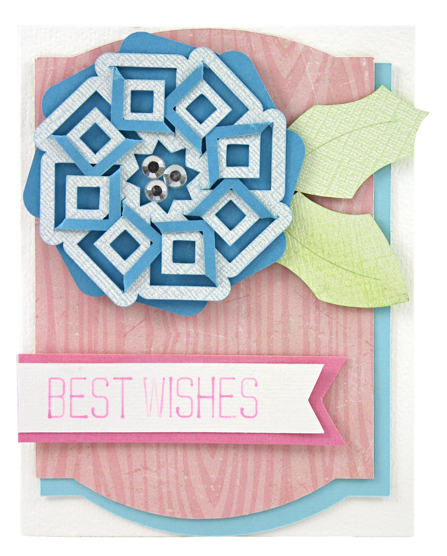 Cut and Fold Collection Projects Best Wishes Card