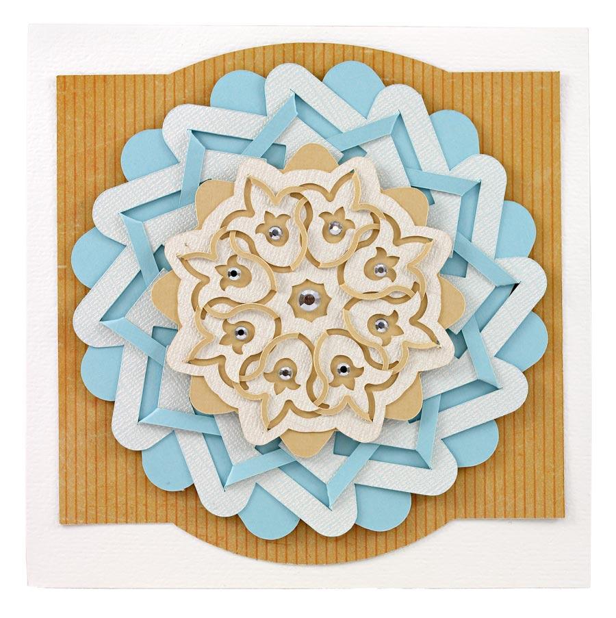 Cut and Fold Collection Medallion Card