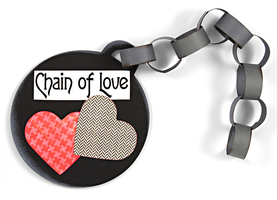 DIY Classroom Valentines Ball and Chain of Love with Hearts