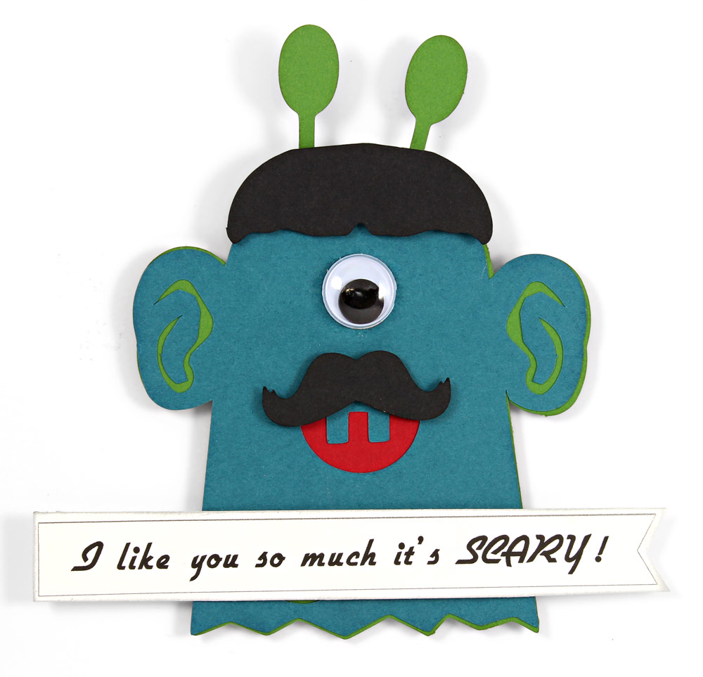 DIY Classroom Valentines Scary Monster Finger Puppet
