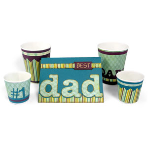 Dad Covered Cups and Dad Card