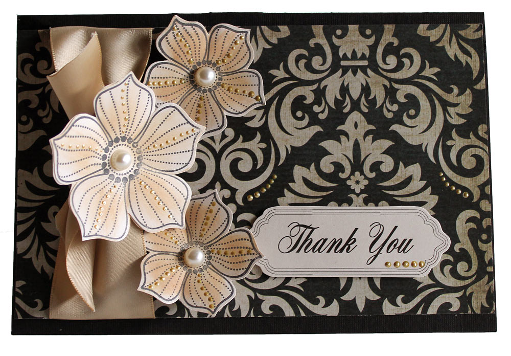 Easy Thank You Card: Patterned Paper   Sentiment - Pazzles Craft Room