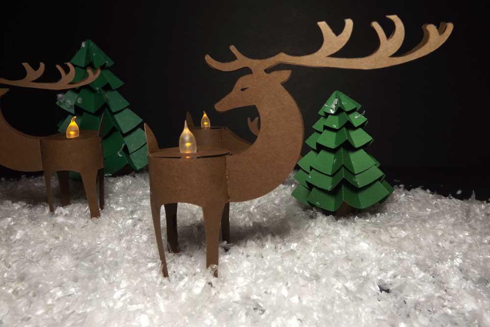 Deer Tealight Holders