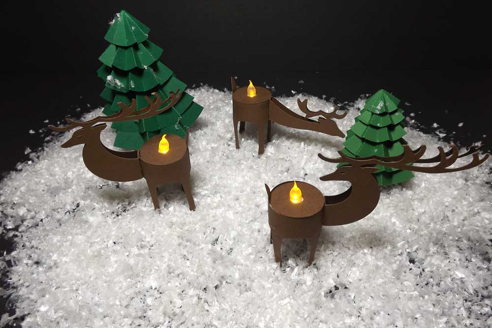Deer Tealight Holders