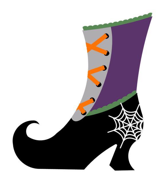 Designer Witch Shoe