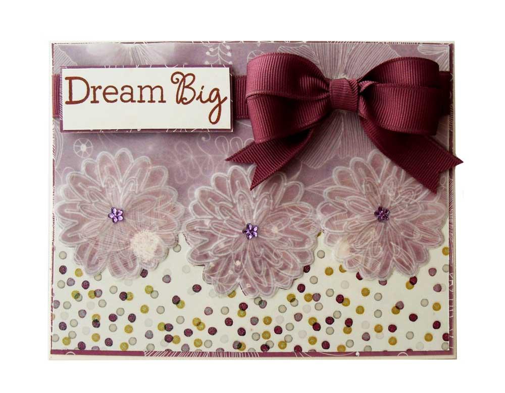 Dream Big Embossed Vellum Tag