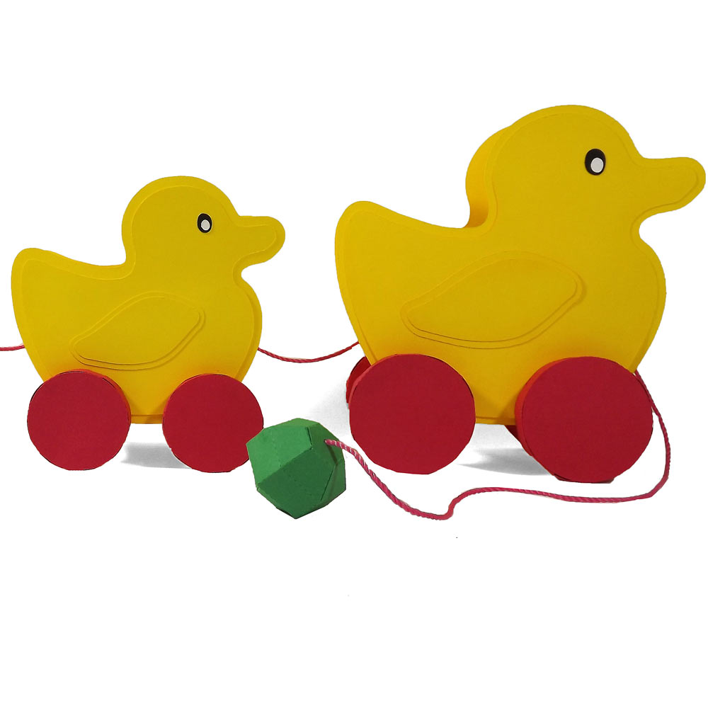 Spellbinders Digital Dies Launch Party Duck Pull Toy