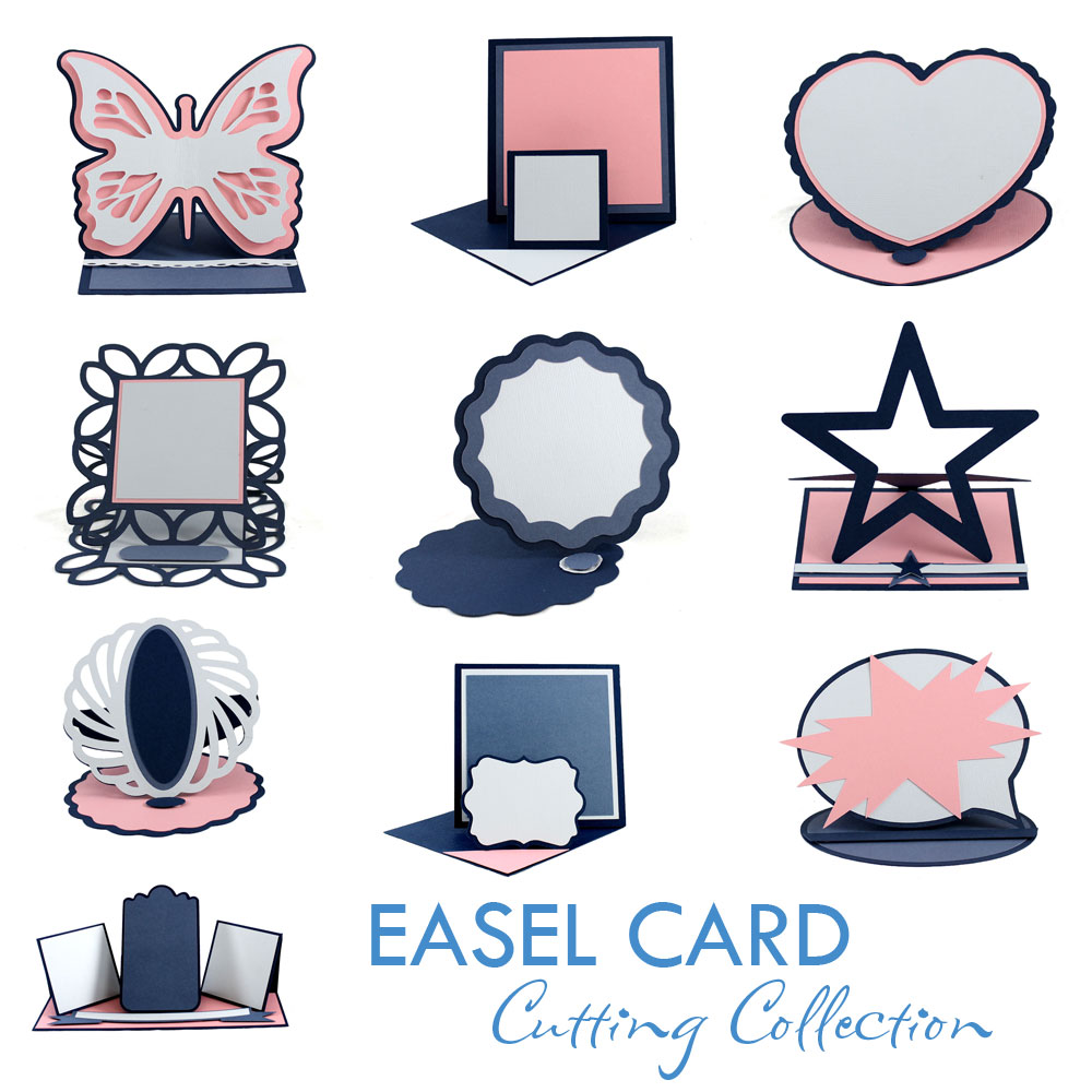 Easel Card Cutting Collection Pazzles Craft Room