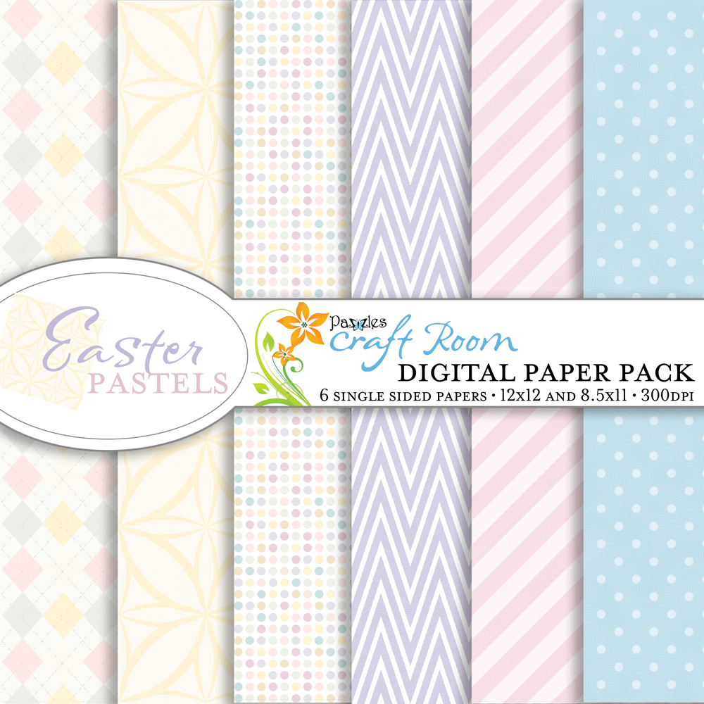 Easter Pastels Digital Paper