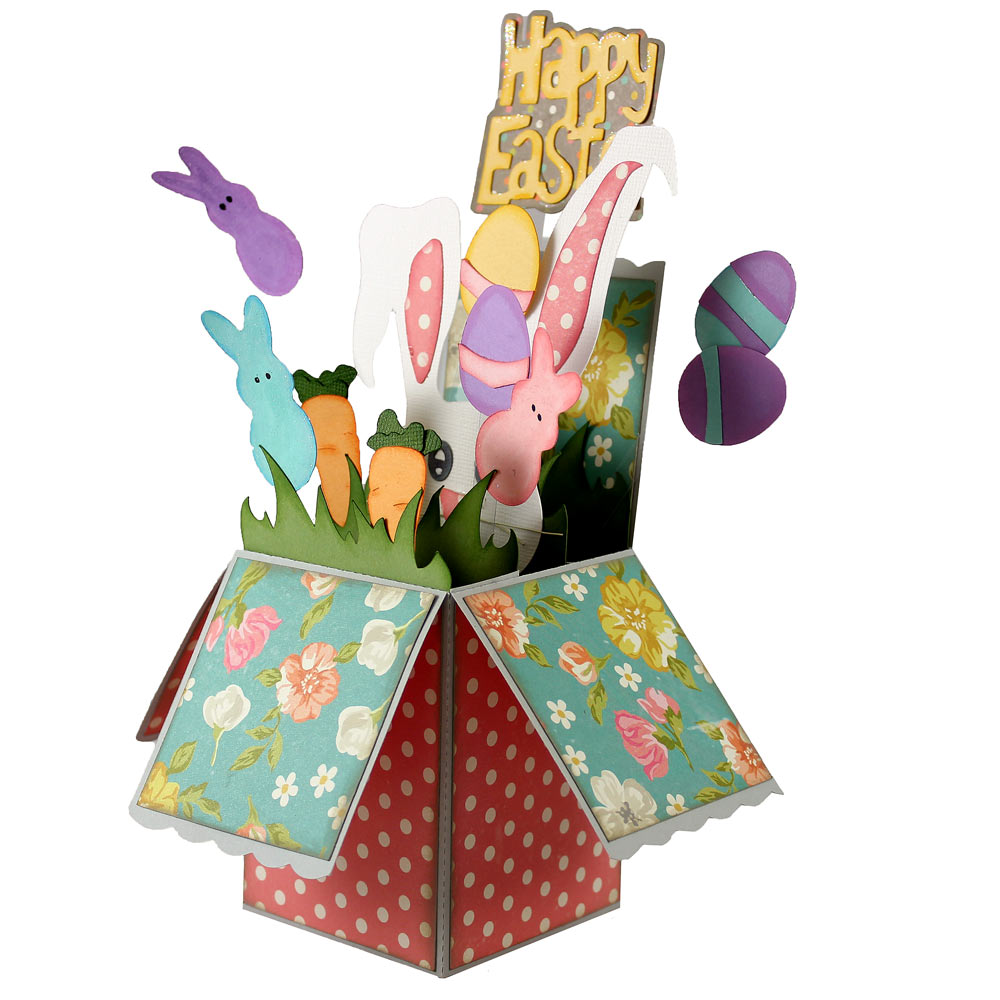 Easter pop up box card pazzles craft room