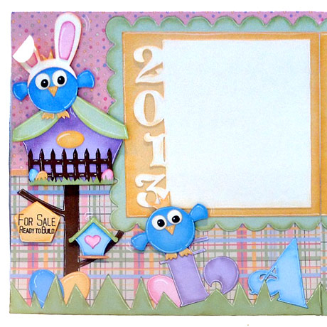 Birds In Bunny Ears Easter Scrapbook Layout Pazzles