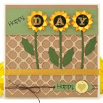 Engraved Sequins Happy Sunflower Card