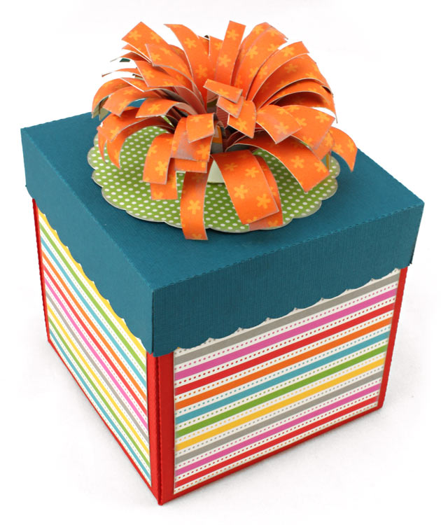 Exploding Gift Box with Balloons Outside