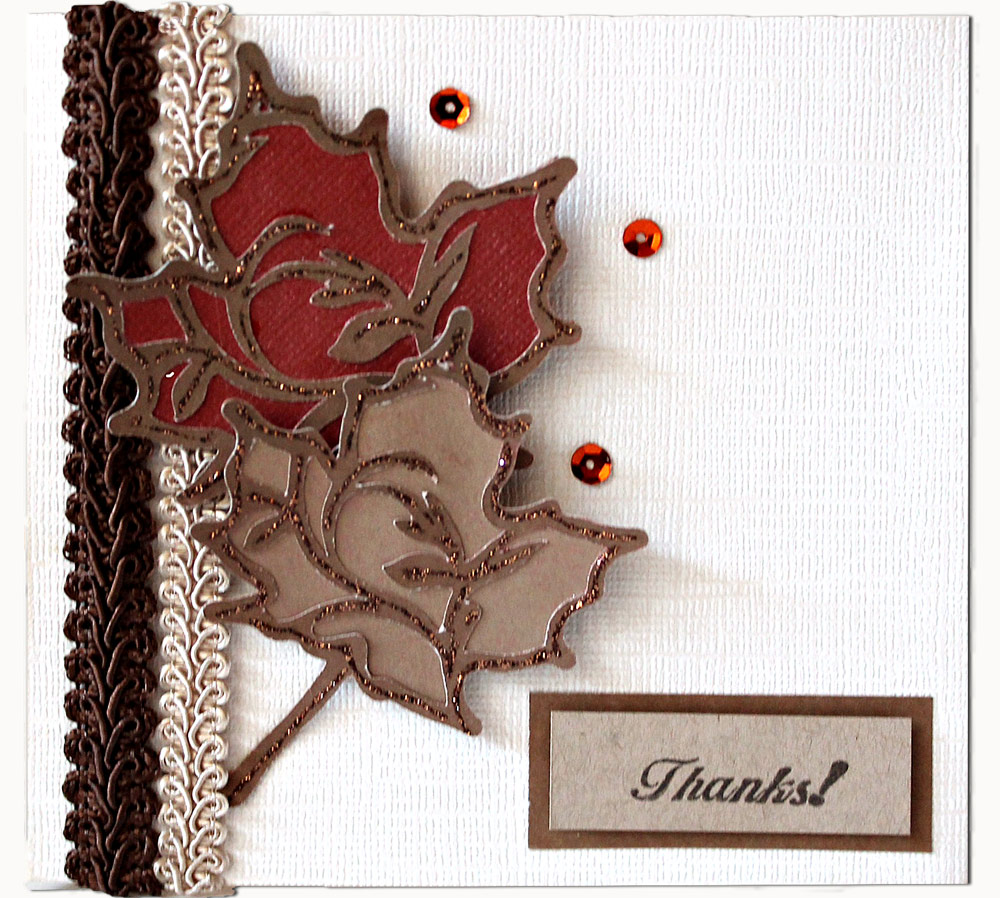 Beautiful Thank You Cards fall thank you card - pazzles craft room