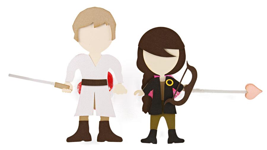 Fantasy Characters Valentine Lollipops