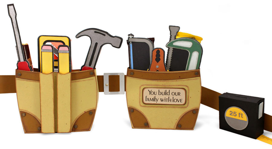 Father's Day Tool Belt with Tools and Candy