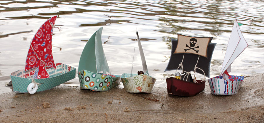 floating paper sailboats pazzles craft room