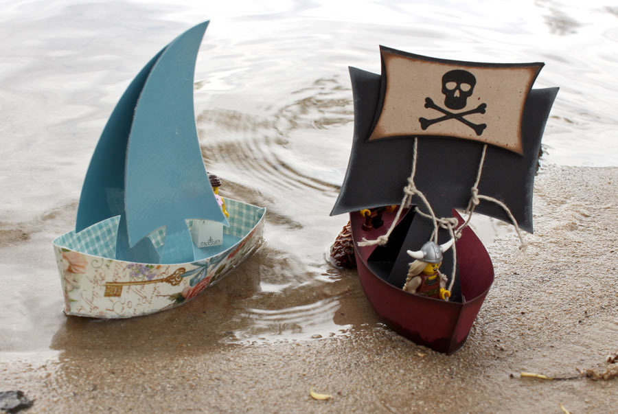 DIY Paper Sailboats Floating Paper Toy Boats On the Sand