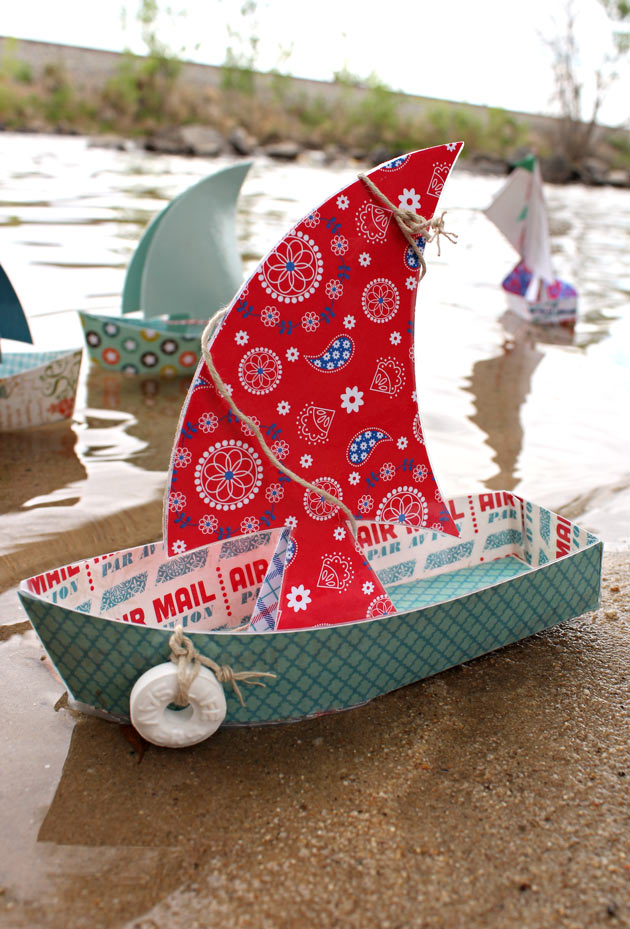 Floating Paper Sailboats - Pazzles Craft Room