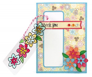 Flower Card with Stained Glass Bookmark