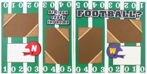 Football Scrapbook Layout