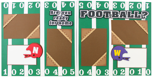 Football Scrapbook Layout Pazzles Craft Room