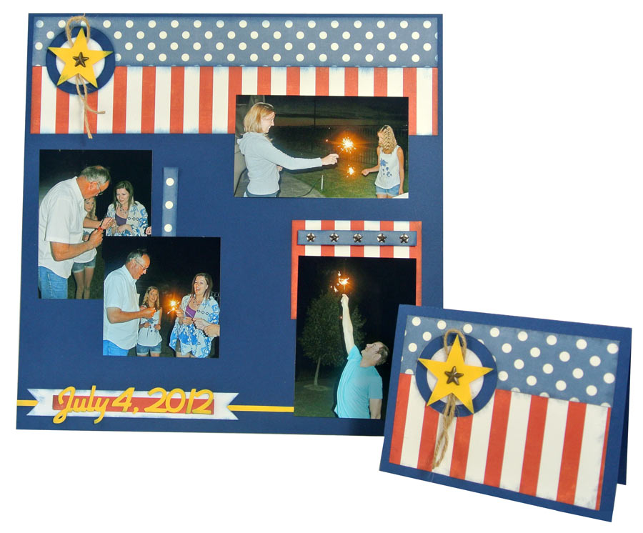 From Card to Page Independence Day Layouts