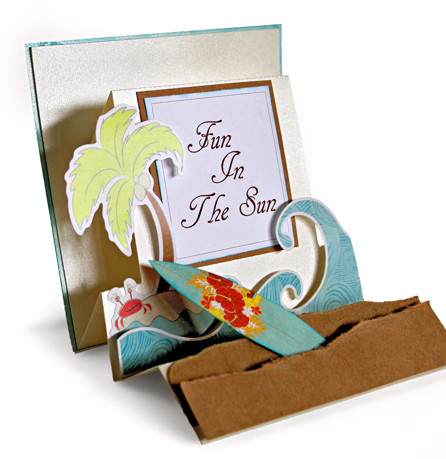 Fun In The Sun Accordion Fold Card by Angie Contreras