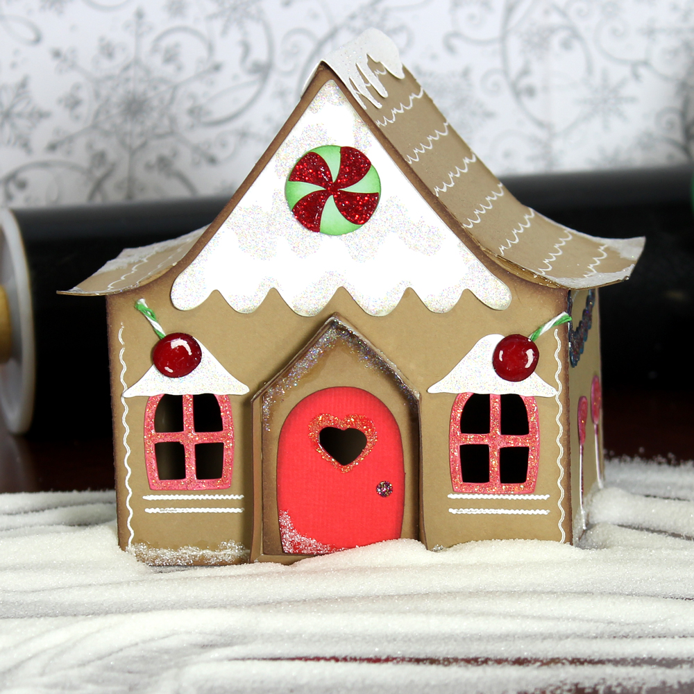 Gingerbread village country cottage house pazzles craft for Country craft house