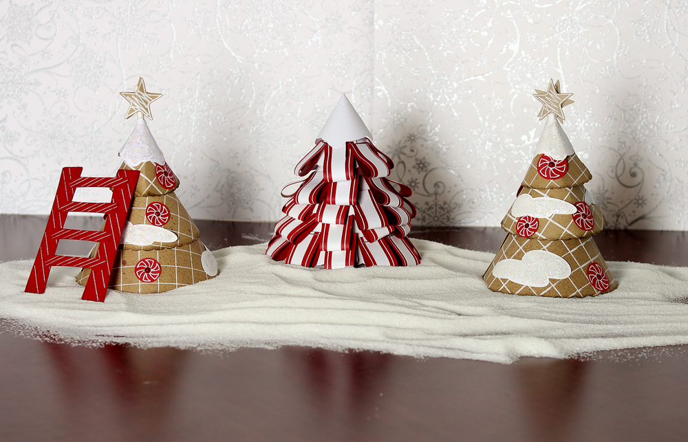 Gingerbread Village Trees