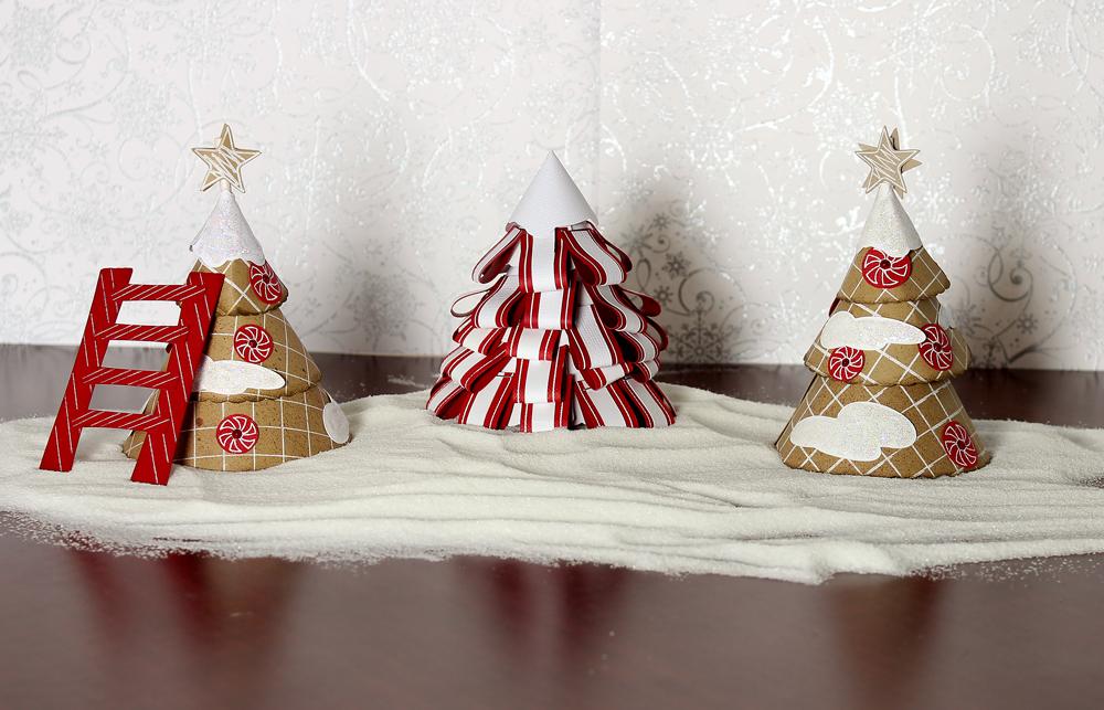 Gingerbread Village Trees