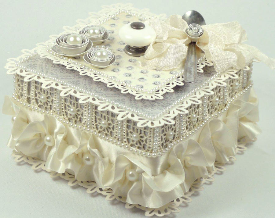 Vintage Baby Shower Gift Box