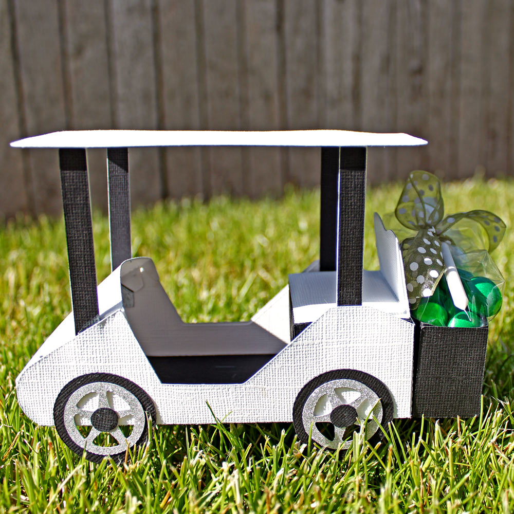 Who s your caddy paper golf cart pazzles craft room