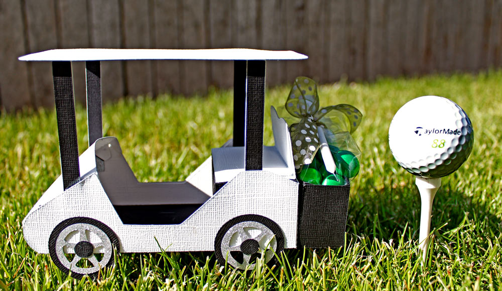 Paper Golf Cart For Father's Day