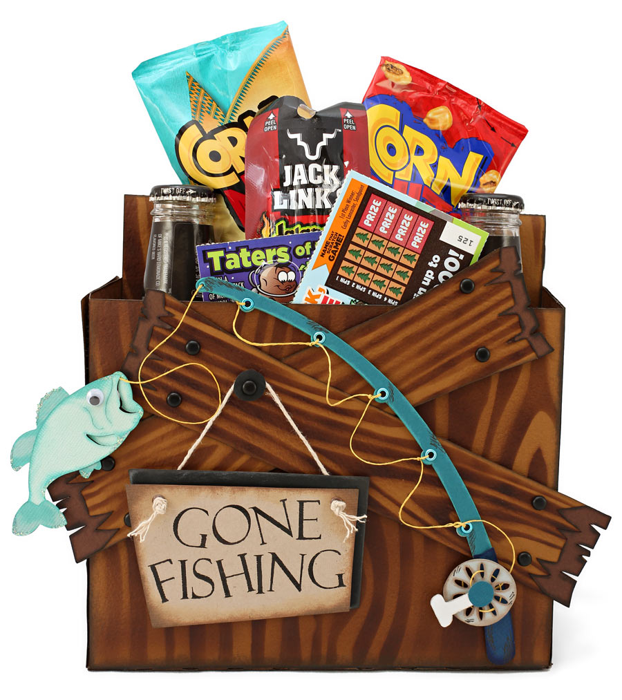 Gone Fishing Soda and Snack Holder