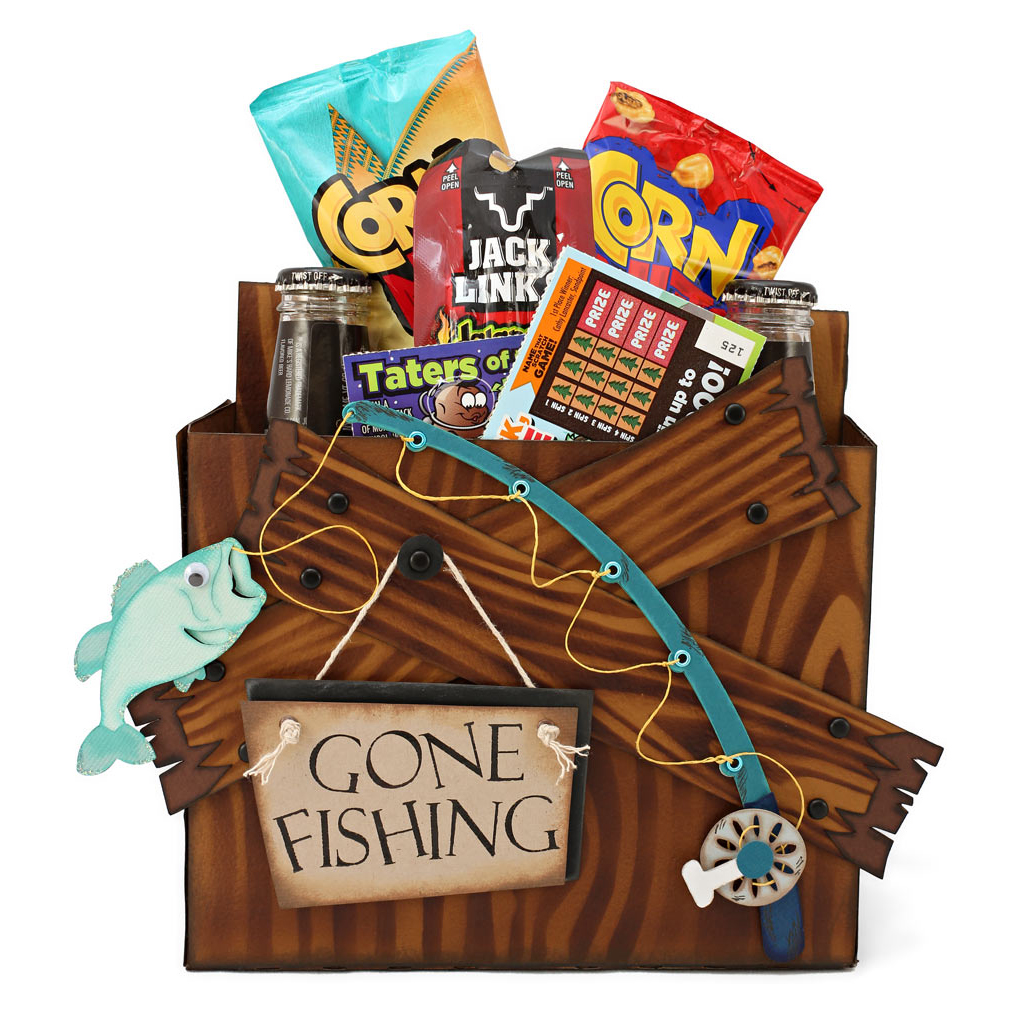 Gone fishing snack and drink caddy pazzles craft room