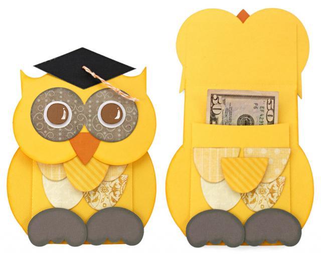 Graduation Owl Money Holder