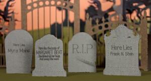 Graveyard Headstones Halloween Epitaphs