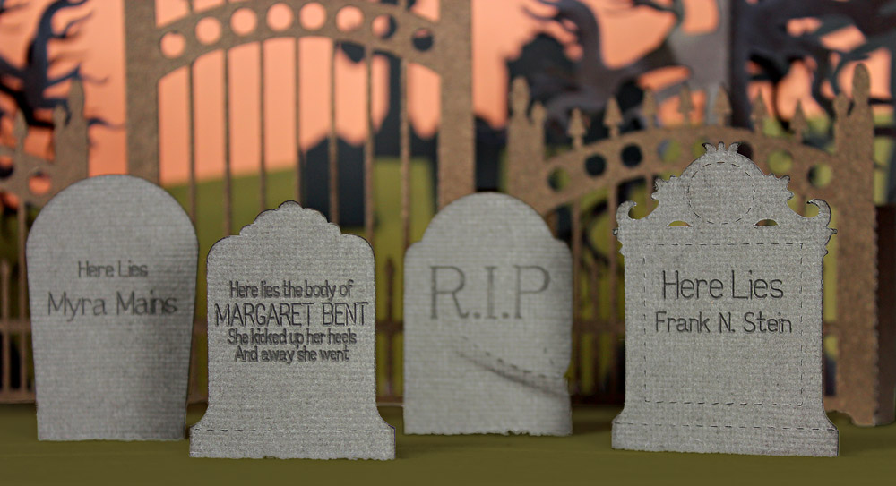 Graveyard Headstones Halloween Epitaphs