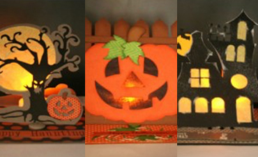 Halloween Light Up Easel Cards