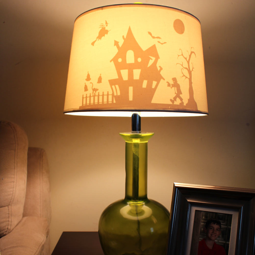 Halloween lamp with vinyl silhouette pazzles craft room aloadofball Images