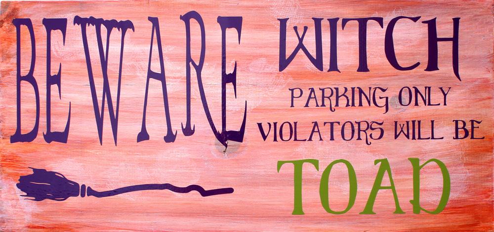 Halloween-Vinyl-Sign-Witch-Parking