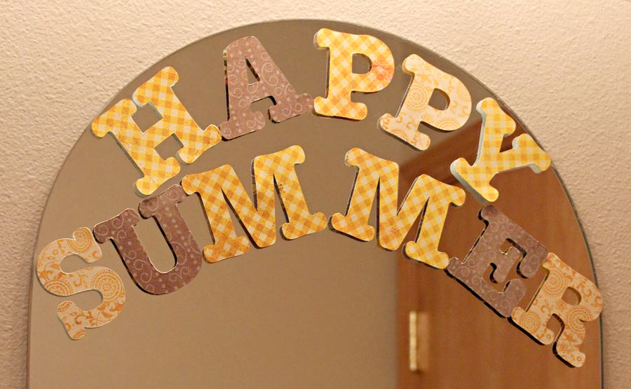 Happy Summer Window Cling Letters