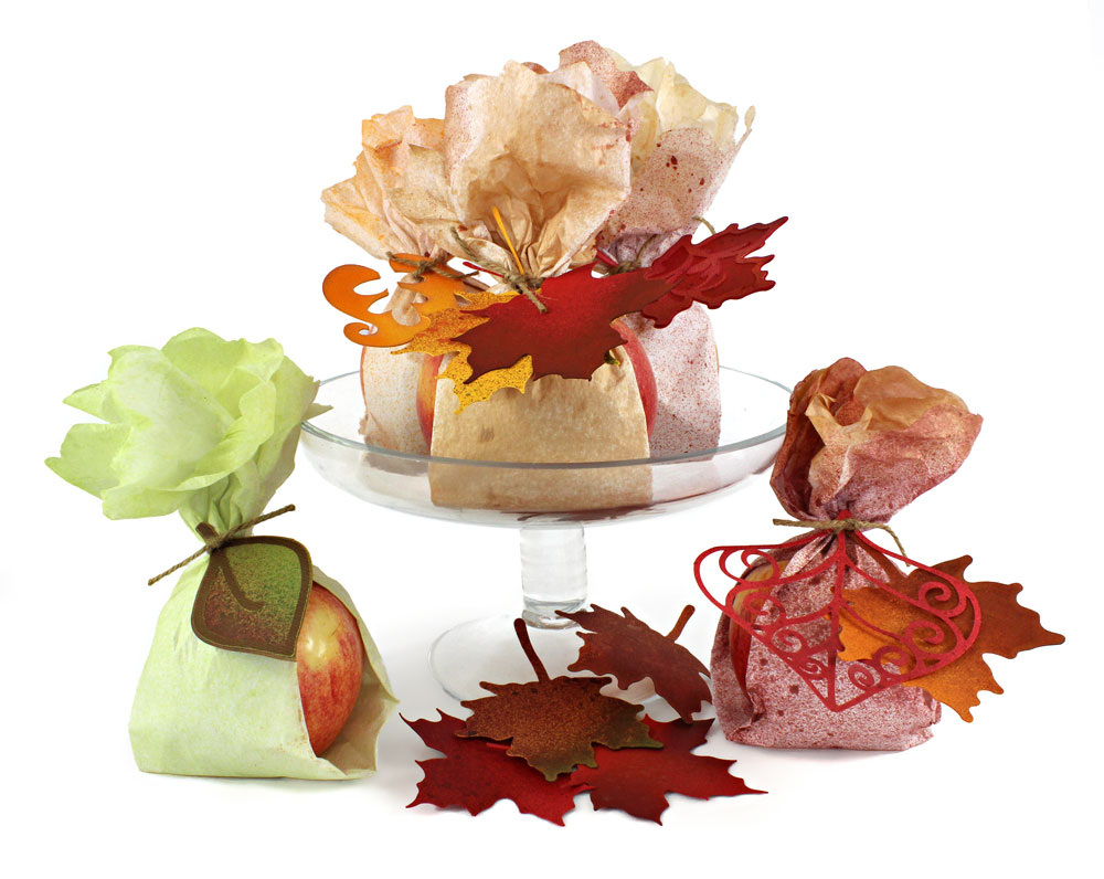Autumn Harvest Gift Apples and Leaves